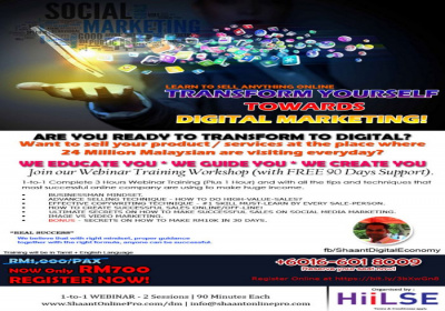 1-to-1 Transform Yourself Towards Digital Marketing Webinar